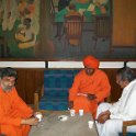 Swami Agnivesh with other spritual leaders at SGM meeting on 12th March, 2011