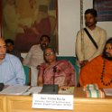 Dr. A.K Gossain, IIT Delhi, Smt Rama Rauta, SGM; Swami Kailashanandji at SGM seminar on 12th March, 2013