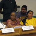 Sushree Uma Bharti, Hon'ble Minister, Water Resource; Smt Rama Rauta, SGM at SGM meeting, Gandhi Darsan, New Delhi on 12th March 2015