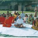 Save Ganga Delegation comprising Swami Tejomayanandaji, Swami Nikhilanandaji, Shri Subharao ji, Smt Rama Rauta at Rajghat New Delhi. 12th March 2009